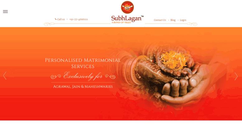 Access subhlagan com  Matrimony site for Marwadi, Jain