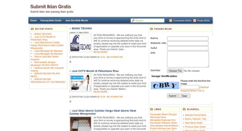 Access Submitiklangratis Blogspot Com Submit Iklan Dan Pasang Iklan Gratis