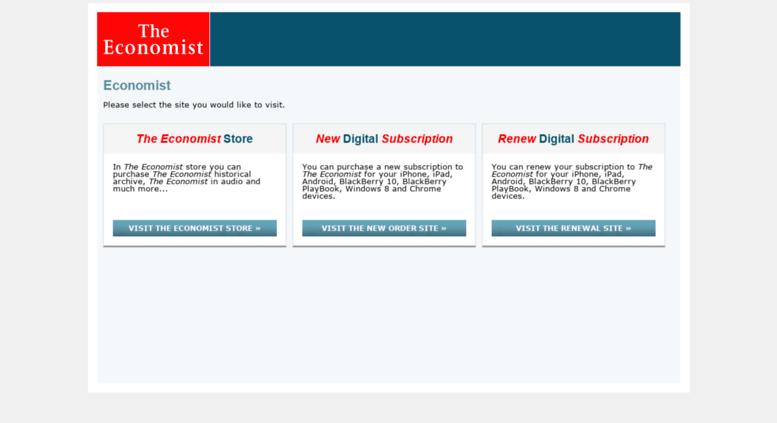 subscribe.economist.com screenshot