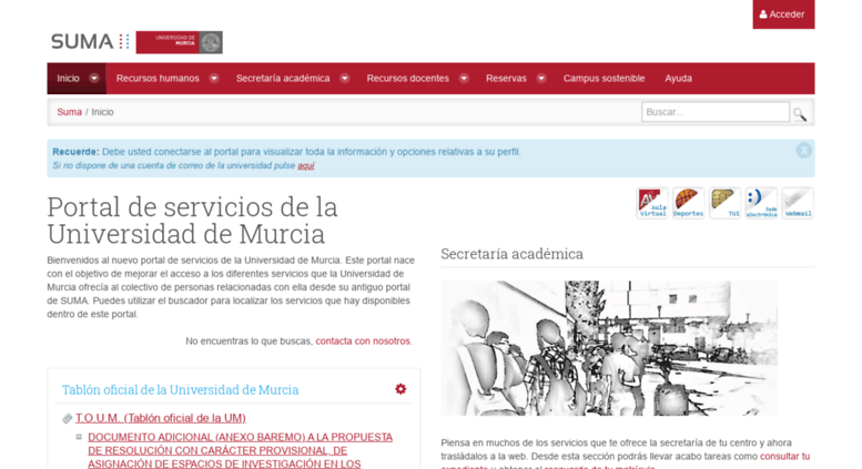 Access Suma Um Es Suma Inicio Universidad De Murcia