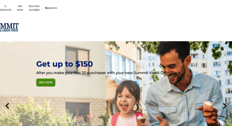 Access summitfcu.org. Home | The Summit Federal Credit Union