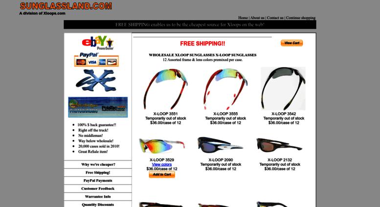 e0e5ea5eae Access sunglassland.com. Xloops.com - Wholesale X loop Sunglasses ...