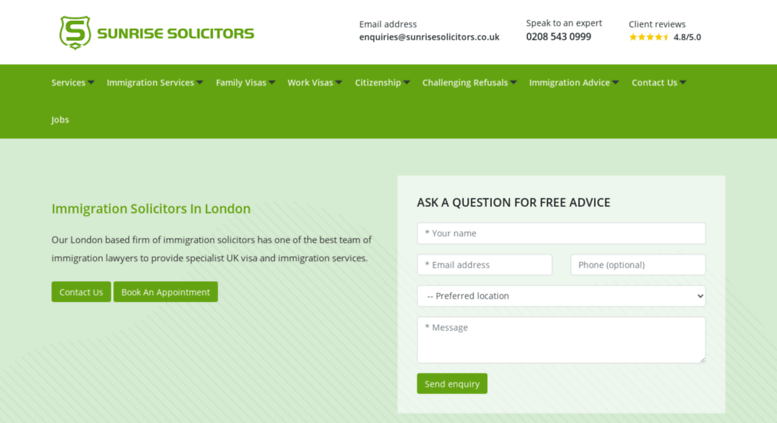 Access sunrisesolicitors co uk  UK Immigration Solicitors