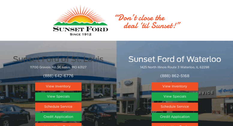 Ford Dealership Kansas City >> Access Sunset Ford Com St Louis Ford Dealer In New And