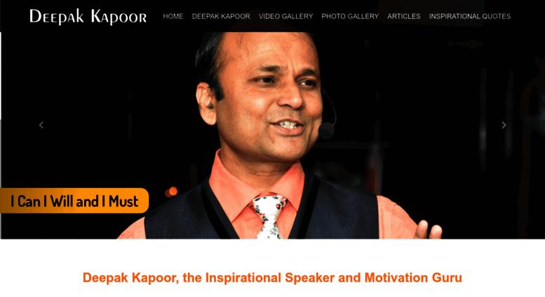 Access superawakening com  ::Deepak Kapoor – Corporate