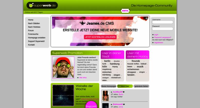 Access Superweb De Superweb Community Kostenlose Homepage