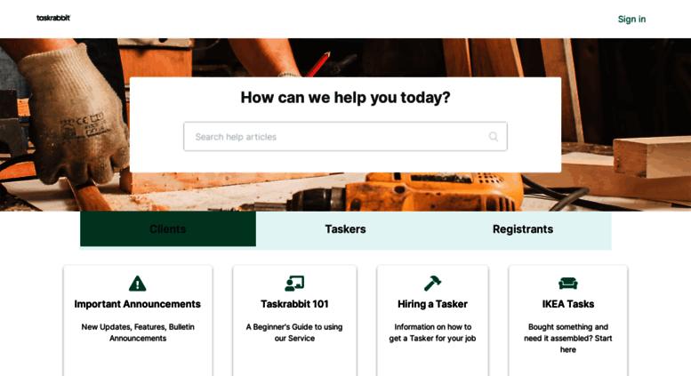 Access support taskrabbit com  TaskRabbit Support