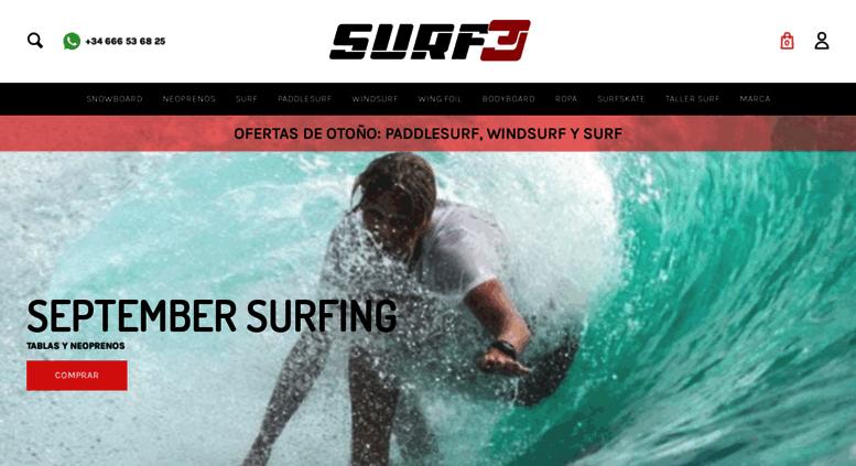 35263a802ead9 Access surf3.es. Surf3 - Tu tienda de Surf