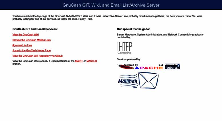Access svn gnucash org  GnuCash GIT, Wiki, and Email List
