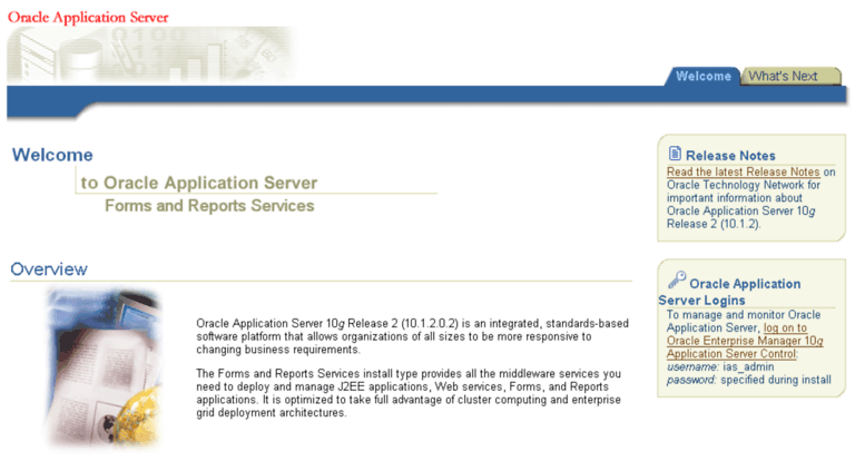 Access svr01023 meduca gob pa  Oracle Application Server Forms and
