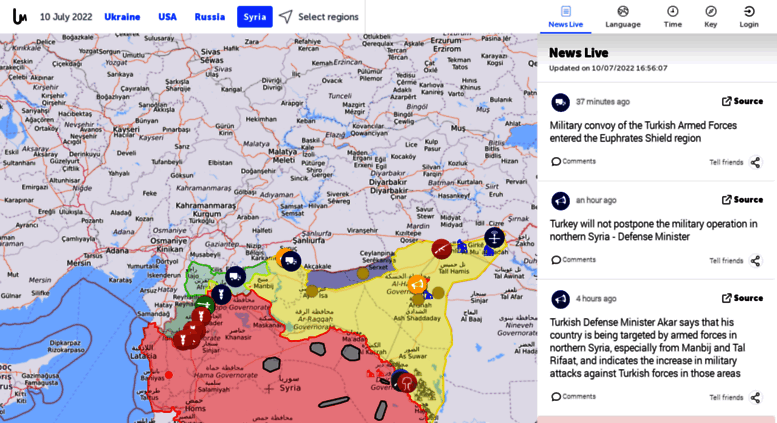 Access syria liveuamap com  Map of Syrian Civil War - Syria
