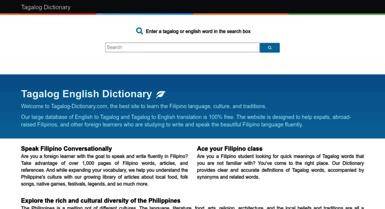 Filipino word in dictionary tagalog Longest