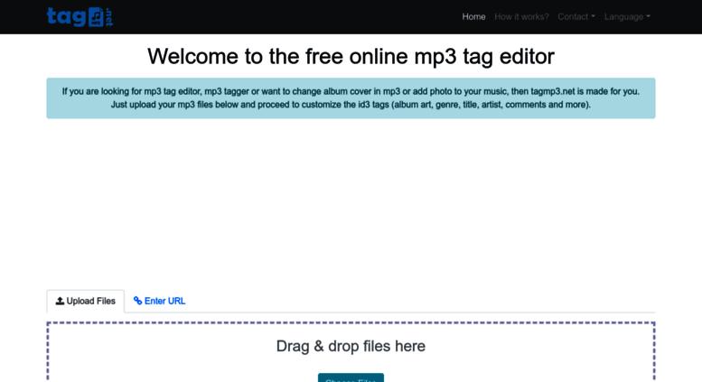 Access tagmp3 net  MP3 tag editor - tag mp3 files online