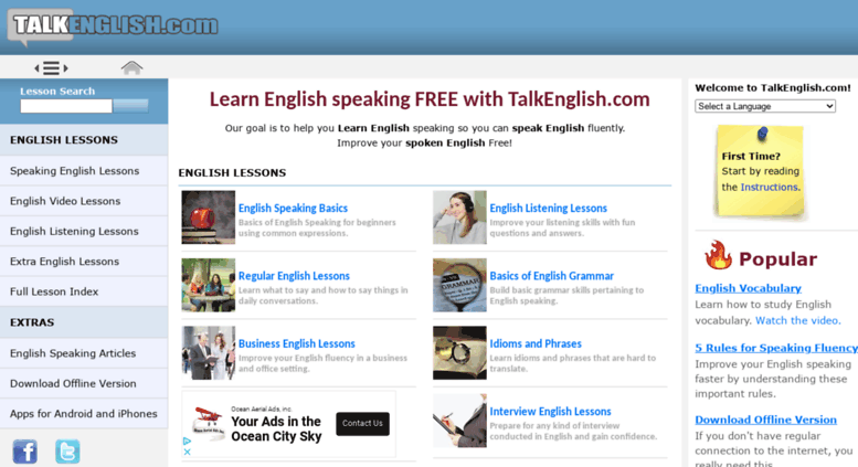 Access talkenglish com  Learn English Speaking and Improve
