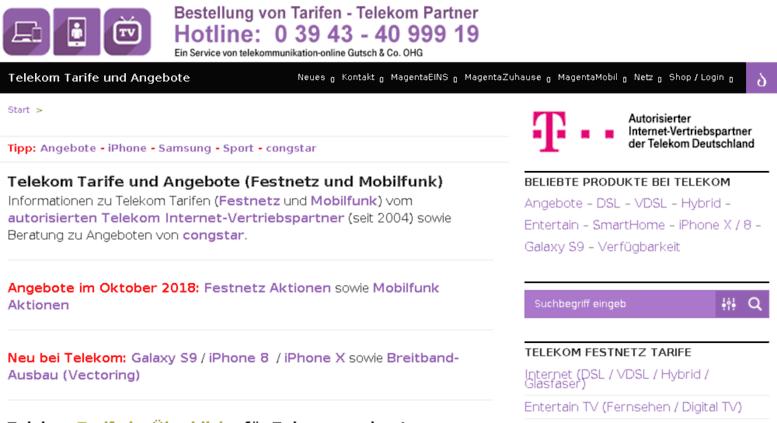 Access Tarife Angebotede Telekom Tarife Und Angebote Festnetz Und