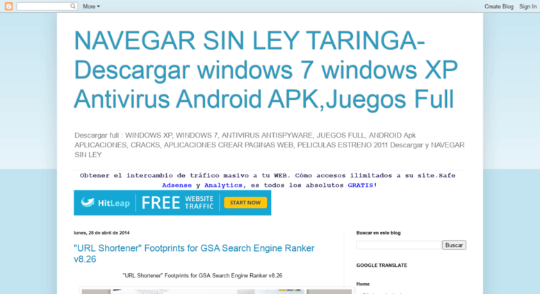 Access Taringa Directory Blogspot Com Navegar Sin Ley Taringa