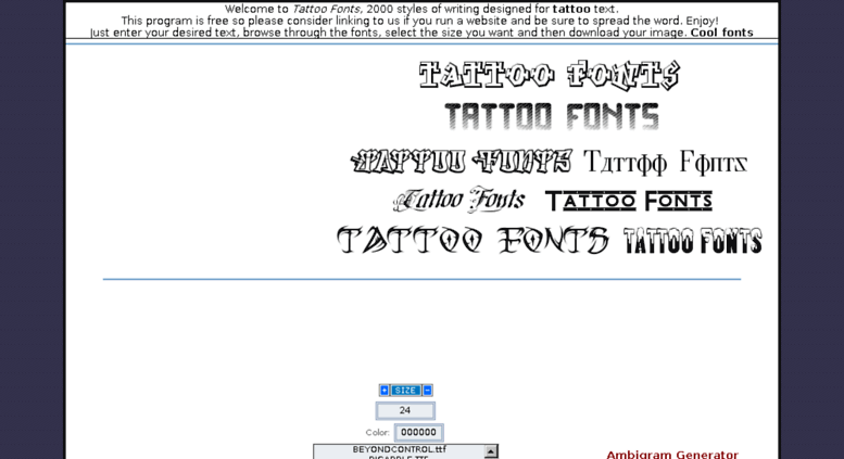 Access Tattoofontsnet Tattoo Fonts Hundreds Of Tattoo
