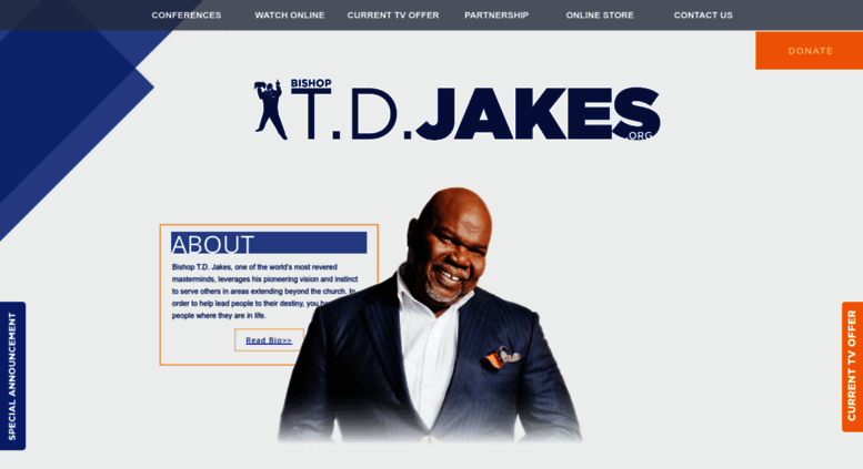 Access tdjakes org  TD Jakes Ministries | A gateway to