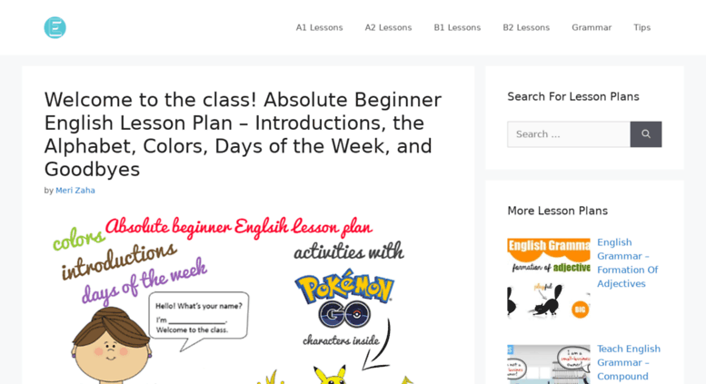 Access teachers onlineenglishexpert com  Free English Lesson