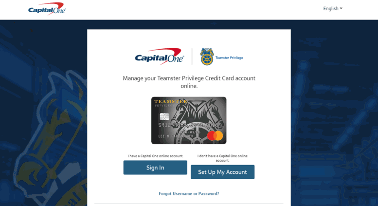Access teamstercard com  Teamster Privilege Credit Card