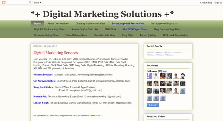 Access techvijendra blogspot in  Website Design and