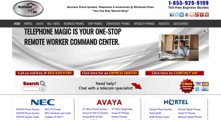 Access telephonemagic com  Wholesale Business Phones   Nortel Avaya
