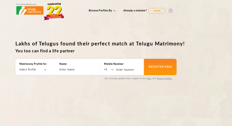 Access telugumatrimony com  Telugu Matrimony - The No  1 Matrimony