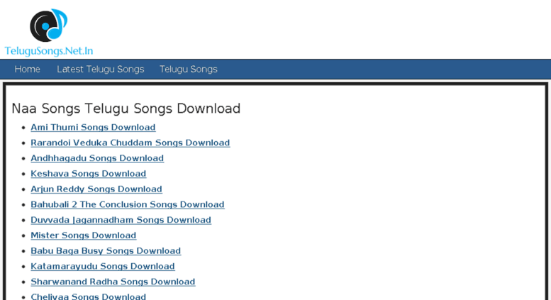 Access Telugusongs Net In Naasongs Com Latest Telugu Songs