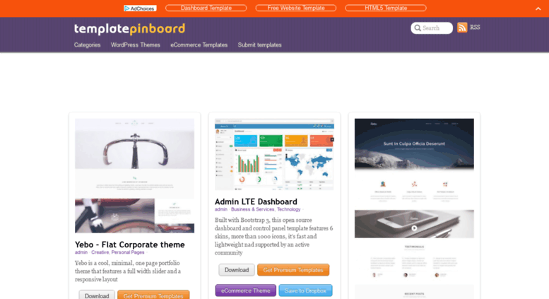 Access templatepinboard com  Free HTML5 Templates - Free