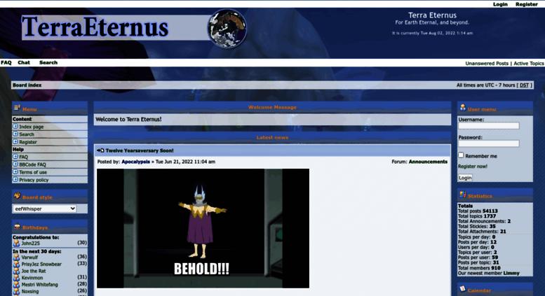 Access terraeternus com  Terra Eternus • Portal