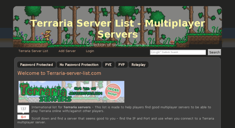 Access Terraria Server Listcom Terraria Server List 1