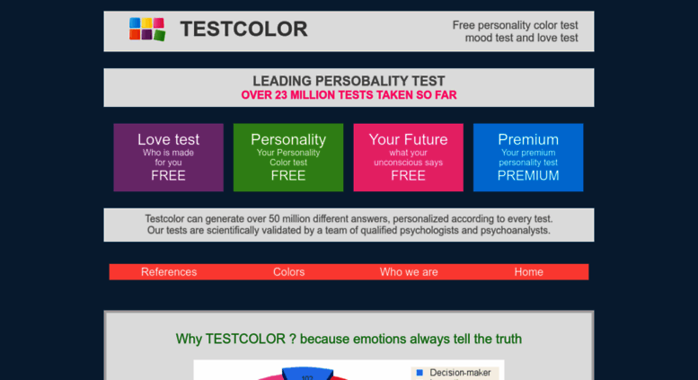 Love personality test