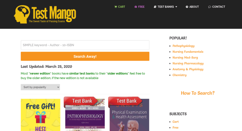 Access testmango com  Latest Test Banks for 2018 and 2017