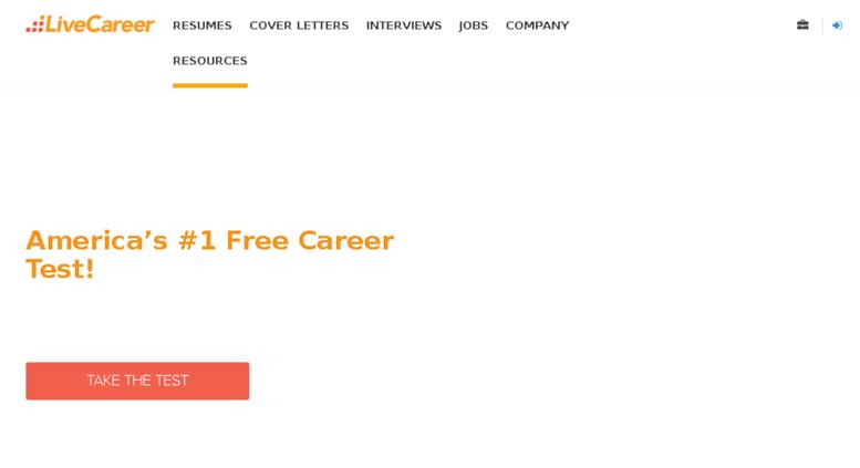 Access Testslivecareer Resume Builder