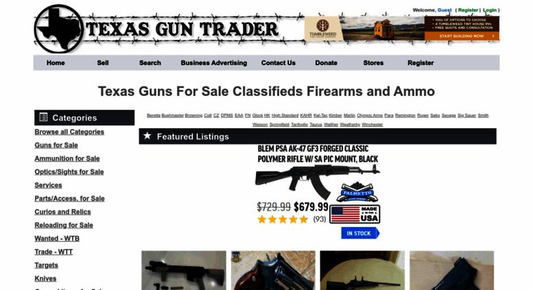 Dallas Gun Trader >> Access Texasguntrader Com Guns For Sale Classifieds Firearms And Ammo