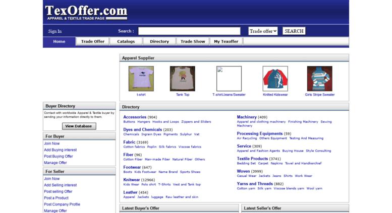 Access texoffer com  clothing buyer seller-B2B Marketplace