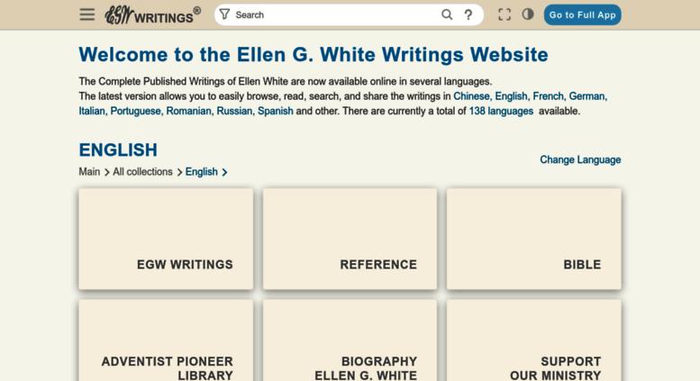 Access text egwwritings org  Ellen G  White Writings