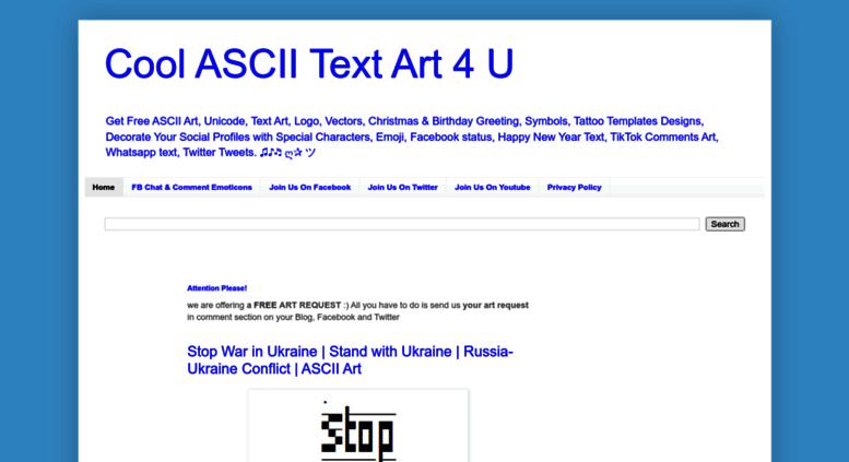 Access Textart4ublogspotcom Cool Ascii Text Art 4 U