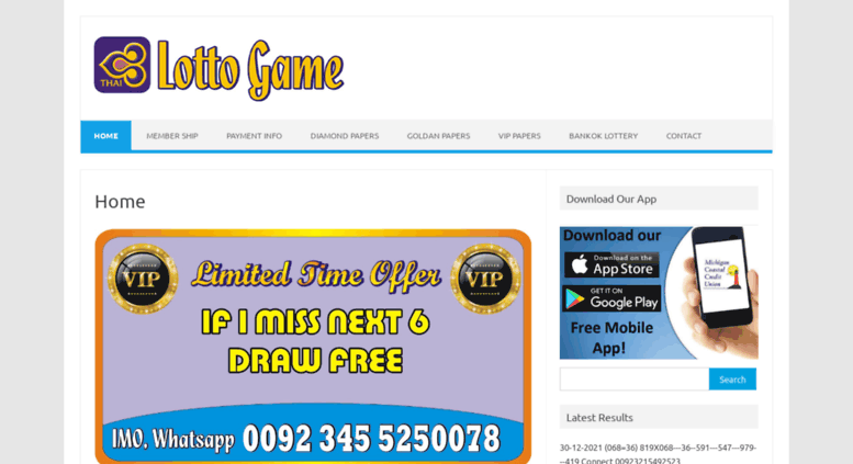 Access thailottogame com  Thai Lotto Game – World's Top