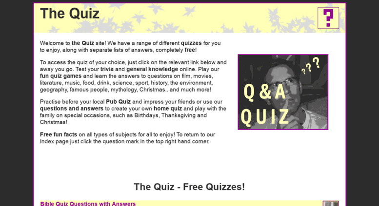 Access the-quiz com  THE QUIZ   Questions with Answers
