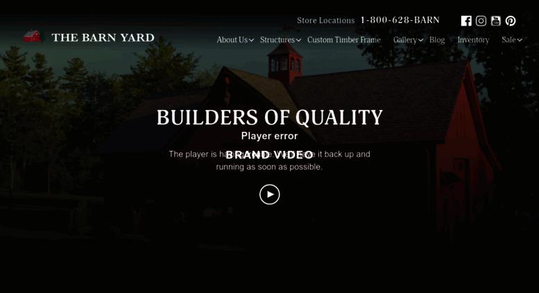Access thebarnyardstore com  Sheds, Garages, Post & Beam Barns