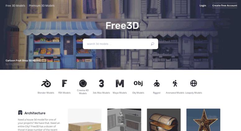 Access thefree3dmodels com  3D Models for Free - Free3D com