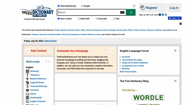 Access thefreedictionary.com. Dictionary, Encyclopedia and Thesaurus