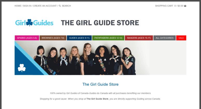 Access thegirlguidestore ca  Girl Guides of Canada Online