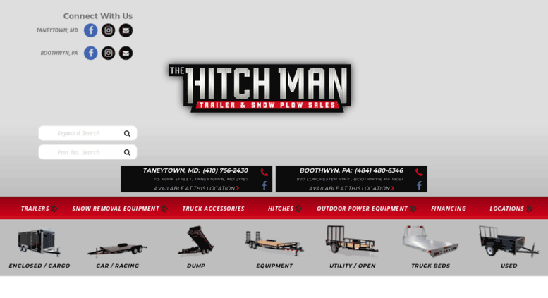 Trailers And Hitches >> Access Thehitchmaninc Com Home The Hitch Man Trailers And