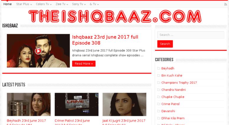 Access theishqbaaz com  Ishqbaaz Watch All – Colors Tv Star Plus Zee