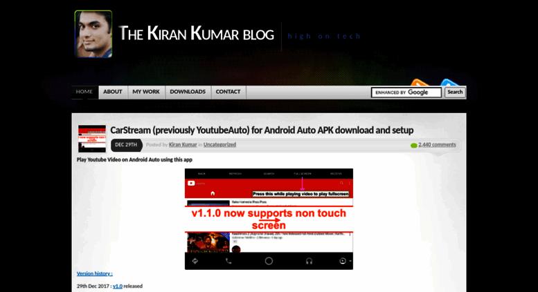 Access thekirankumar com  The Kiran Kumar blog | high on tech