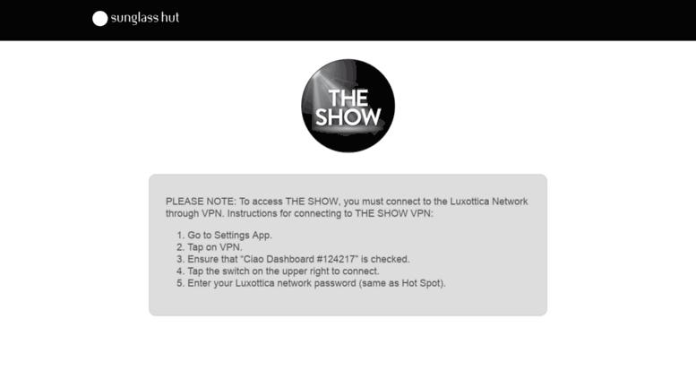 Access theshow luxottica com  The Show