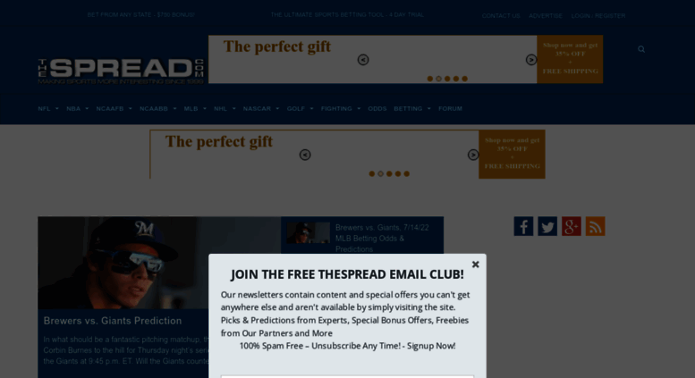 Access thespread com  Public Betting Trends, Picks