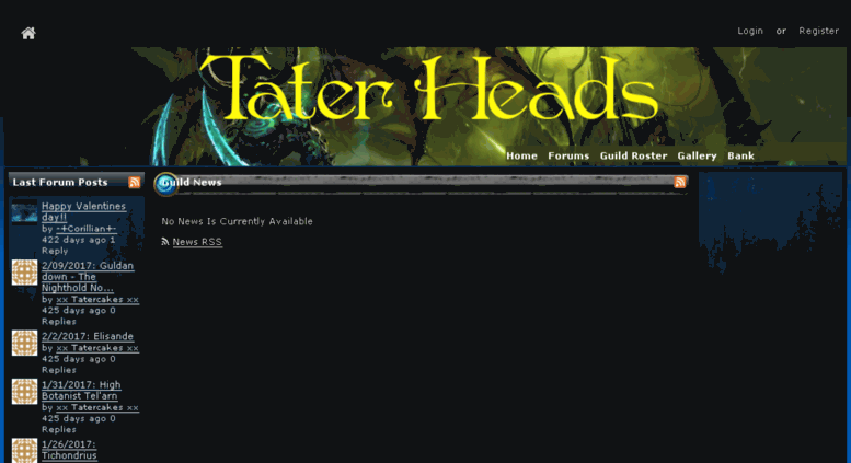 Access thetaterheads guildlaunch com  Guild and Clan